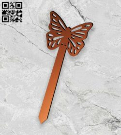 Butterfly E0013807 file cdr and dxf free vector download for laser cut plasma