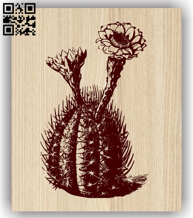 Cactus E0013726 file cdr and dxf free vector download for laser engraving machine