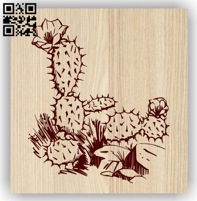 Cactus E0013756 file cdr and dxf free vector download for laser engraving machine