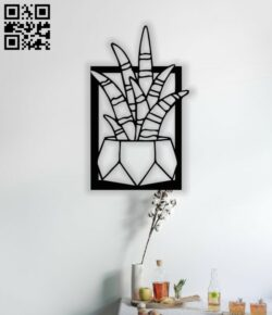 Cactus wall decor E0014035 file cdr and dxf free vector download for laser cut plasma