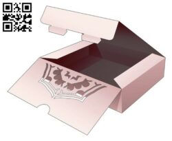 Cake box with mandala E0014045 file cdr and dxf free vector download for laser cut