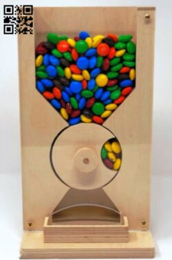 Candy dispenser E0013830 file cdr and dxf free vector download for laser cut