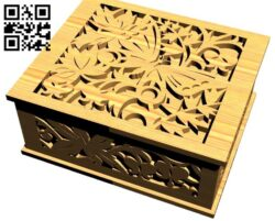 Casket E0013852 file cdr and dxf free vector download for laser cut