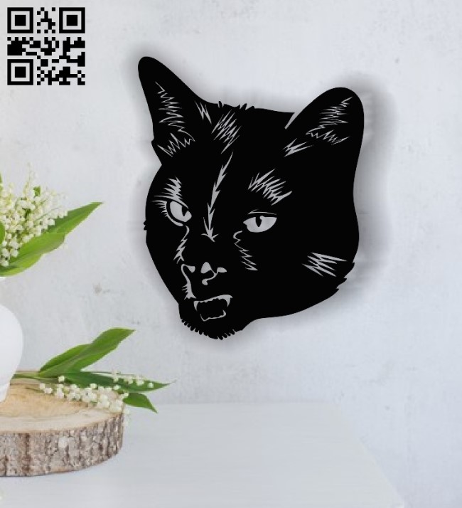 Cat face E0013740 file cdr and dxf free vector download for cnc cut plasma