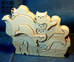Cats E0013810 file cdr and dxf free vector download for cnc cut