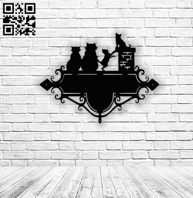 Cats address table E0013840 file cdr and dxf free vector download for laser cut plasma