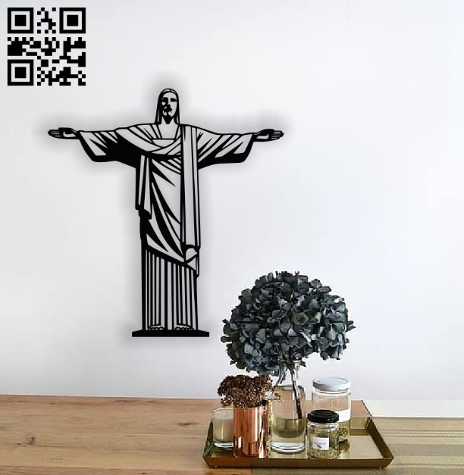 Christ the redeemer E00137882 file cdr and dxf free vector download for laser cut plasma