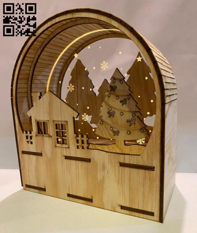 Christmas light E0013974 file cdr and dxf free vector download for laser cut