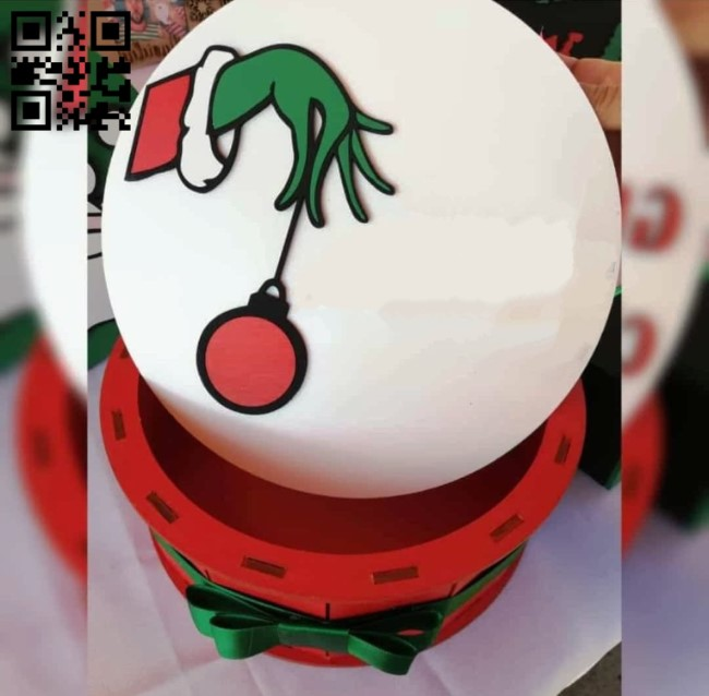 Christmas round box E0013978 file cdr and dxf free vector download for laser cut