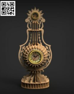 Clock E0013826 file cdr and dxf free vector download for laser cut