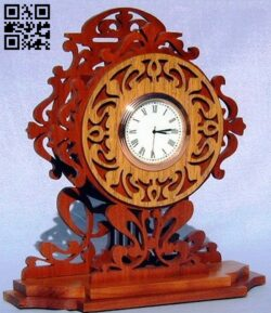 Clock E0013932 file cdr and dxf free vector download for laser cut cnc