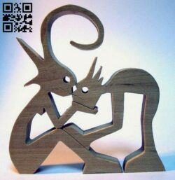 Couple E0013768 file cdr and dxf free vector download for cnc cut