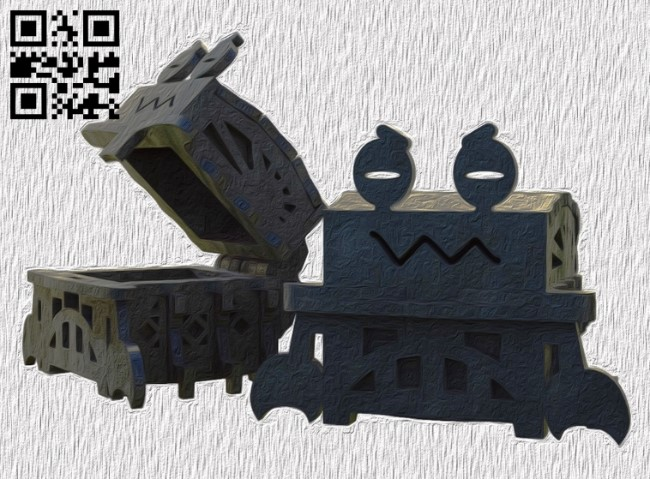 Crab box E0013808 file cdr and dxf free vector download for laser cut