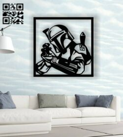 Dark vador star war wall decor E0013835 file cdr and dxf free vector download for laser cut plasma
