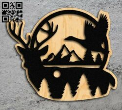 Deer E0013865 file cdr and dxf free vector download for laser cut