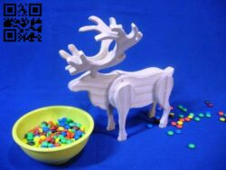 Deer candy box E0013888 file cdr and dxf free vector download for laser cut