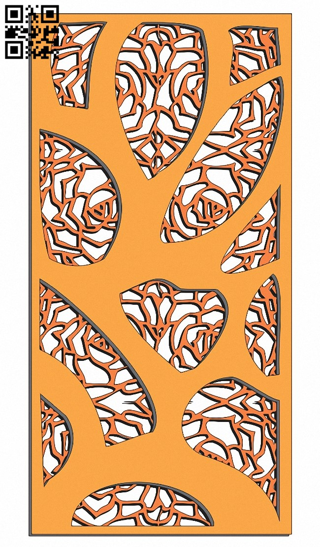 Design pattern screen panel E0013929 file cdr and dxf free vector download for laser cut cnc
