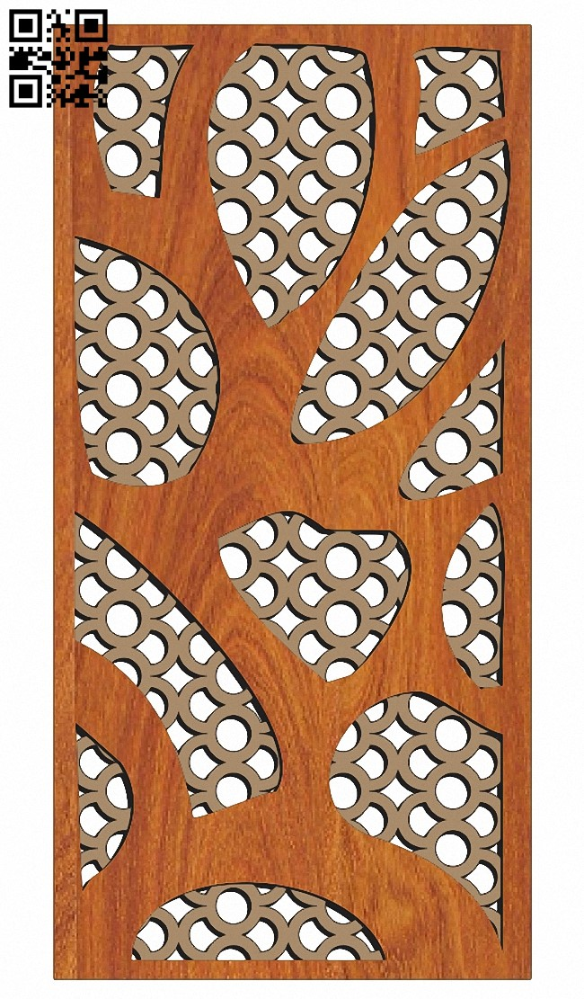 Design pattern screen panel E0013930 file cdr and dxf free vector download for laser cut cnc