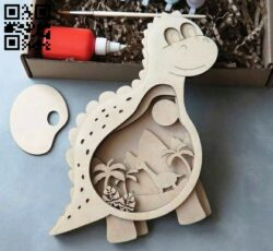 Dinosaur E0013777 file cdr and dxf free vector download for laser cut