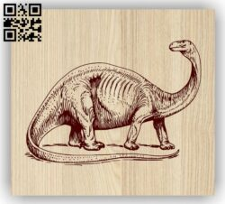 Dinosaur E0013917 file cdr and dxf free vector download for laser engraving machine