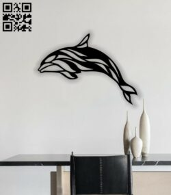 Dolphin wall decor E0013962 file cdr and dxf free vector download for laser cut plasma