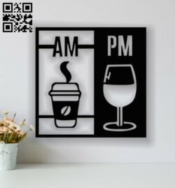 Drink panel E0013739 file cdr and dxf free vector download for laser cut plasma