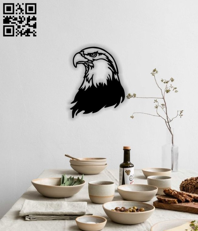 Eagle head E0014051 file cdr and dxf free vector download for laser cut plasma