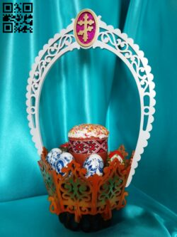 Easter basket E0014023 file cdr and dxf free vector download for laser cut