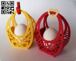 Easter basket E0014025 file cdr and dxf free vector download for laser cut