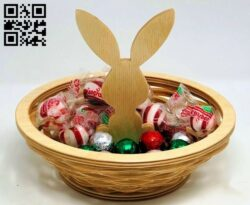 Easter candy bowl E0013934 file cdr and dxf free vector download for laser cut