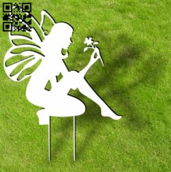 Fairy ornament stakes garden yard E0013939 file cdr and dxf free vector download for laser cut plasma