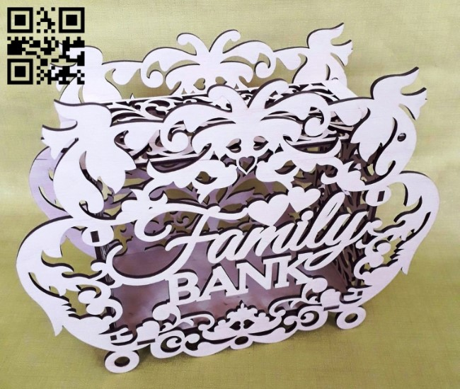 Family bank E0013763 file cdr and dxf free vector download for laser cut
