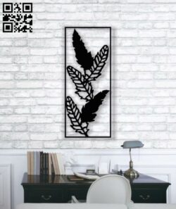 Feathers wall decor E0013820 file cdr and dxf free vector download for laser cut plasma