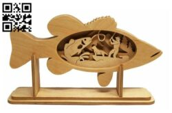 Fish E0013853 file cdr and dxf free vector download for laser cut