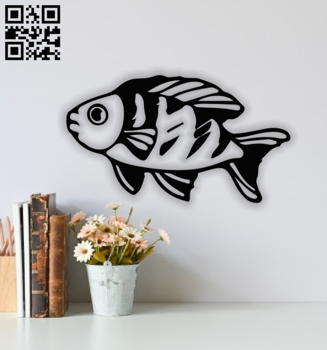 Fish wall decor E0013946 file cdr and dxf free vector download for laser cut plasma