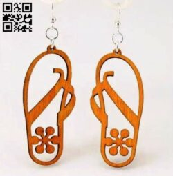 Flip-flop earring E0013913 file cdr and dxf free vector download for laser cut plasma