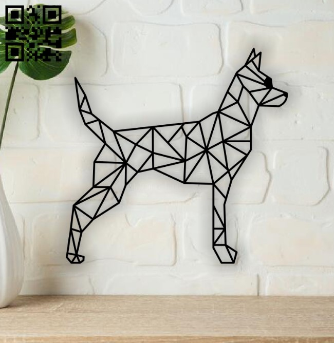 Geometric dog E0014052 file cdr and dxf free vector download for laser cut plasma