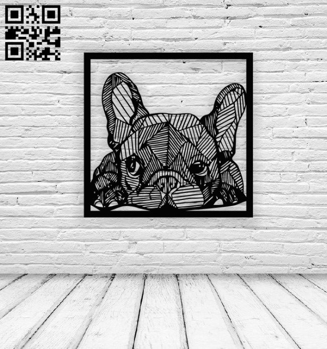 Geometric dog wall decor E0013813 file cdr and dxf free vector download for laser cut plasma