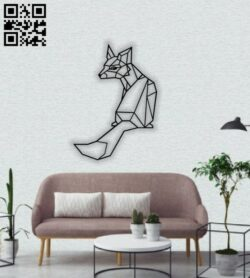 Geometric fox E0013843 file cdr and dxf free vector download for laser cut plasma