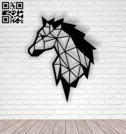 Geometric horse E0013748 file cdr and dxf free vector download for laser cut plasma
