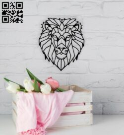 Geometric lion E0014053 file cdr and dxf free vector download for laser cut plasma