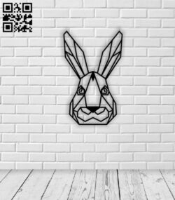 Geometric rabbit E0013961 file cdr and dxf free vector download for laser cut plasma