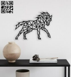 Geometric unicorn E0014014 file cdr and dxf free vector download for laser cut plasma