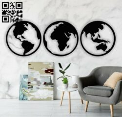 Global chart E0014054 file cdr and dxf free vector download for laser cut plasma
