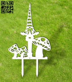 Gnome ornament stakes garden yard E0013938 file cdr and dxf free vector download for laser cut plasma