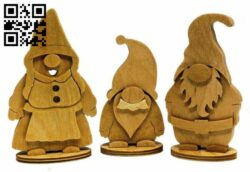 Gnomes E0013936 file cdr and dxf free vector download for laser cut
