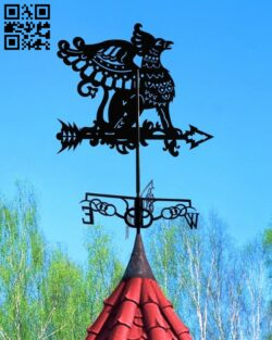 Griffon weather wind vane E0013907 file cdr and dxf free vector download for laser cut plasma