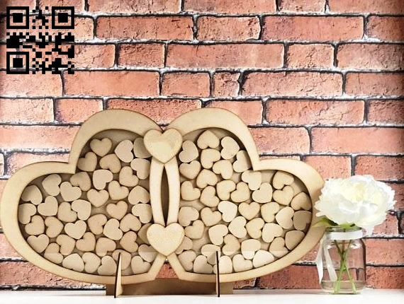 Heart wish box E0013976 file cdr and dxf free vector download for laser cut