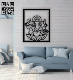 Hindu elephant E0013833 file cdr and dxf free vector download for laser cut plasma