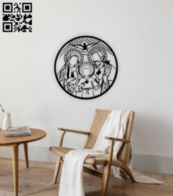 Holy family E0014060 file cdr and dxf free vector download for laser cut plasma